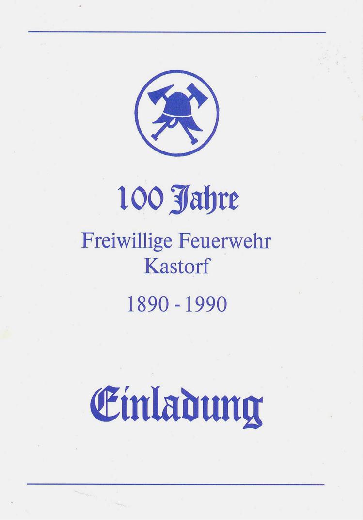 Freiwillige Feuerwehr Kastorf - Historisches
